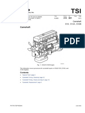 volvo d12 workshop manual less specifications abby   pdf   turbocharger    cylinder (engine)  scribd