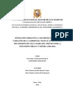 Estimación mediante la teledetección de la variación de la cobertura vegetal en las lomas del distrito de Villa María del Triunfo por la expansión urbana y minera (1986-2014)