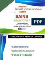 Overview KSSM Sains Ting 1