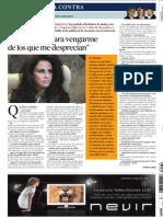 Katie Price en La Contra de Vanguardia