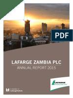 Lafarge Zambia 2015 Annual Report