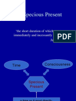 Two Dimensional Time and the Specious Present
