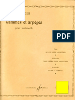 Gammes Et Arpèges.cello.J.loeb