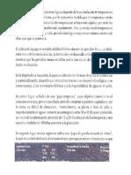 DISPONIBILIDAD DE AGUA EN EL CICLO FENOLOGICO