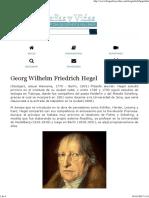Biografia de Georg Wilhelm Friedrich Hegel