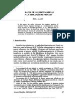 3. EL PAPEL DE LAS MATEMÁTICAS EN LA TEOLOGÍA DE PROCLO, JOHNJ. CLEARY.pdf