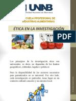 Clase 11 - Etica en La Investigación