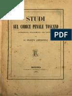 Studi Sul Codice Penale Toscano
