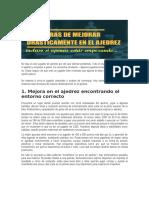 5 Maneras de Mejorar Drasticamente en Ajedrez