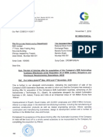 Receipt of binding offer for acquisition of the Company's B2B Automation business [Company Update]