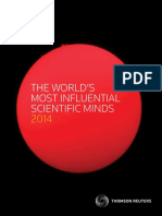Worlds Most Influential Scientific Minds 2014