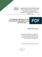 Considerações Para o Controle Tecnológico de Obras Em Alvenaria Estrutural - Dissertação Ricardo Luiz Canato