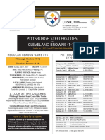 Cleveland Browns Vs. Pittsburgh Steelers (Jan. 1)