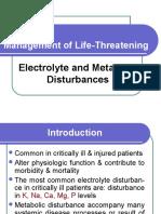 Electrolit&Metabolic Disturbance