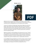 Bio of Bhikkhu Kai Yin
