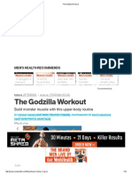 The Godzilla Workout