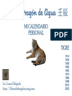 Calendario Personal Tigre