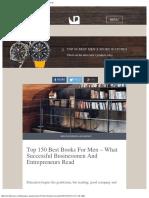 Top 150 Best Books for Men - What Successful Men Read