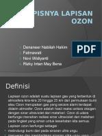 Fisika (Menipisnya Lapisan Ozon)