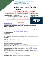 Tappa Napoli Le Voci Del 600
