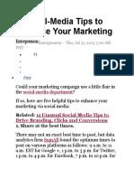 Social-media Tips for Marketing