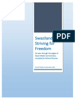 Swaziland Striving for Freedom Vol 24 Oct to Dec 2016