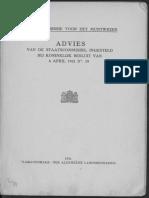Advies van de Staatscommissie, ingesteld bij Koninklijk Besluit van 6 April 1921 no. 19 / [voorzitter G. Vissering]
