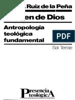 RUIZ de LA PEÑA, J. L. - Imagen de Dios. Antropología Teológica Fundamental - Sal Terrae, 3 Ed., 1996