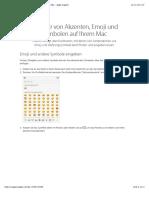 Eingabe Von Akzenten, Emoji Und Symbolen Auf Ihrem Mac - Apple Support