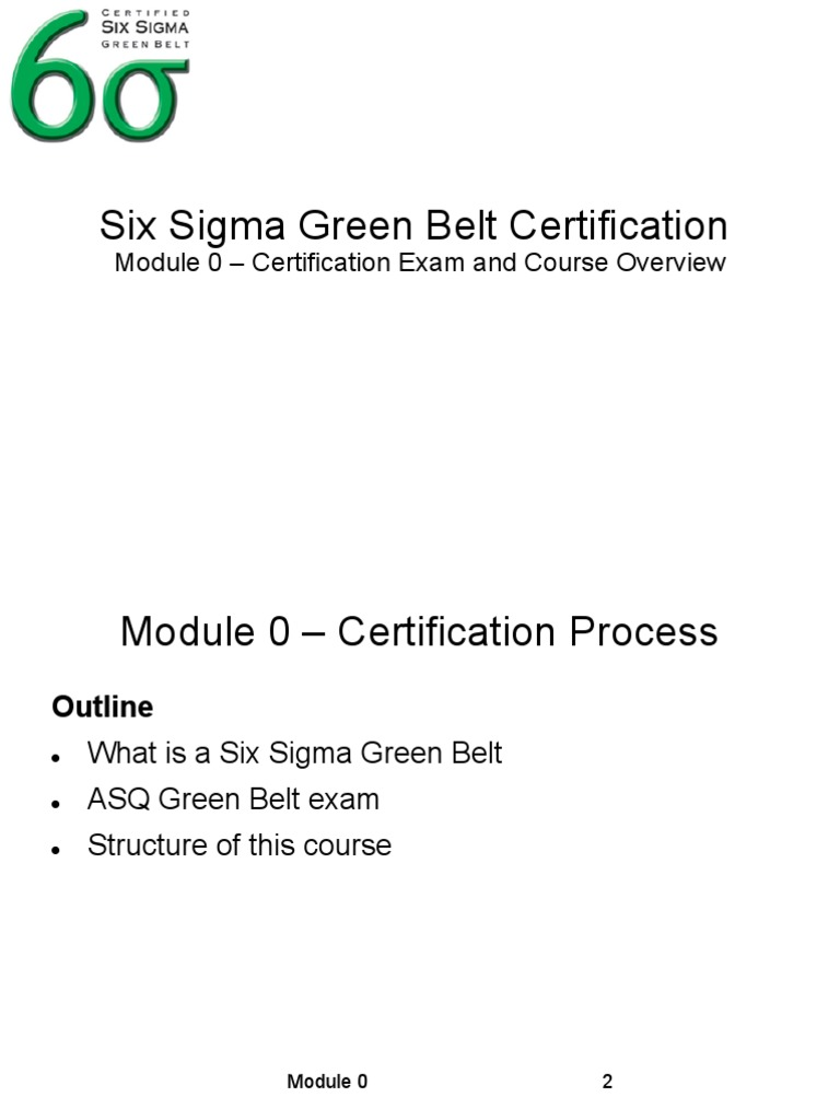 19803 57844 Six Sigma Green Belt Notes Six Sigma Lean Manufacturing