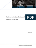 Performance Analyzer for Dynamics Deployment and User Guide