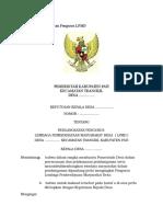 Contoh SK Pengangkatan Pengurus LPMD