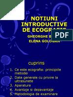 R. Notiuni Introductive de Ecografie