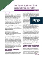 Maternal Death Audit March 22011