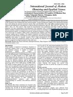 The Study On Hydro Geochemical Characteristics Of Aquifers Of Bhaskar Rao Kunta Watershed, Nalgonda District, Telangana, India