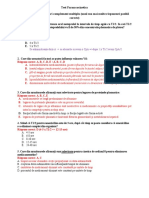 Test Farmacocinetica - B 2014-2015 Cu Raspunsuri