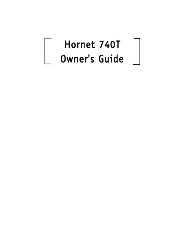 Hornet 740t Pdf