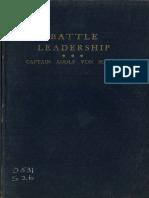 Battle Leadership CPT Adolf Von Schell