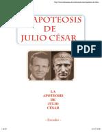 Apoteosis de Julio Cesar