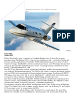 Hawker 900XP Review Flying 2009