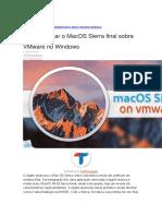 Como Instalar o MacOS Sierra Final Sobre VMware No Windows