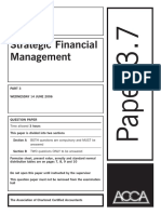 3.7 Strategic Financial Management (Old Syllabus) of ACCA Past Papers with Answers from2002-2006