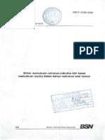 SNI 01 6366 2000 Batas Maksimum Cemaran Mikroba Dan Batas Maksimum Residu Dalam Bahan Makanan Asal h