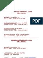 LIBROS DE TEXTO 2010-2011