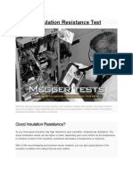 Megger Insulation Resistance Test