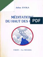 EvolaJulius-lesMditationsDuHautDesCimes-guyTrdanielPards1991