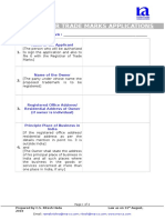 Checklist for Trademarks Registration