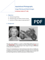 Image Filtering and Hybrid Images