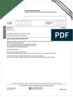 IGCSE Biology 2015 Paper 21