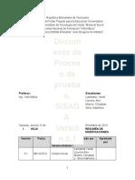 Documento para especificar Proceso de Pruebas